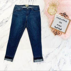 Democracy High Rise Frayed Cropped Skinny Jeans 14